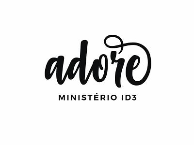 Adore | Ministério ID3 Logo church mark marca graphic design design logomark logotype logotipo logo