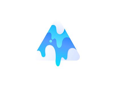Mountain Blue blue colorscheme ilustration gradients vector illustration colorful flat dribbble design colorswatch colors 2019