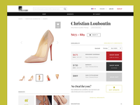 Fashion e-commerce site product page