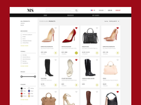 Fashion e-commerce site browse page