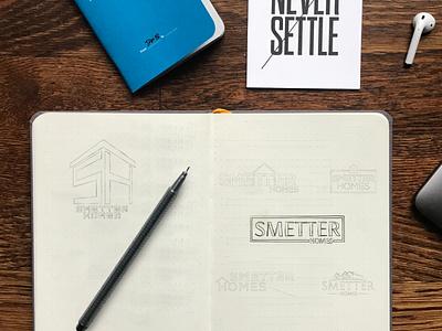 SMETTER HOMES Identity Design omaha branding logo identity design