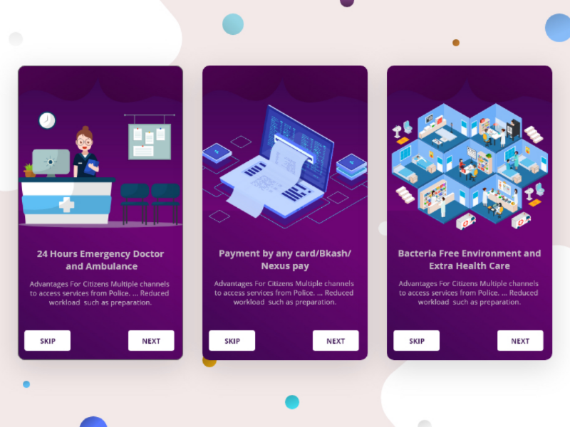 Hospital online services app 🏥 by FARHANA on Dribbble