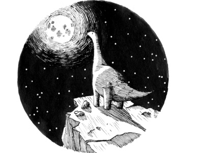Melancholic Dino inktober 2017 children art children illustration children book children book illustration drawing ink drawing inking illustration