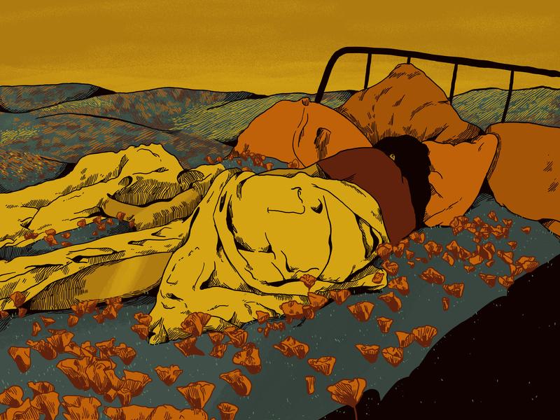 Bed Of Flowers queer art queer nature illustration nature woolhiser illustration digital illustration digitalart
