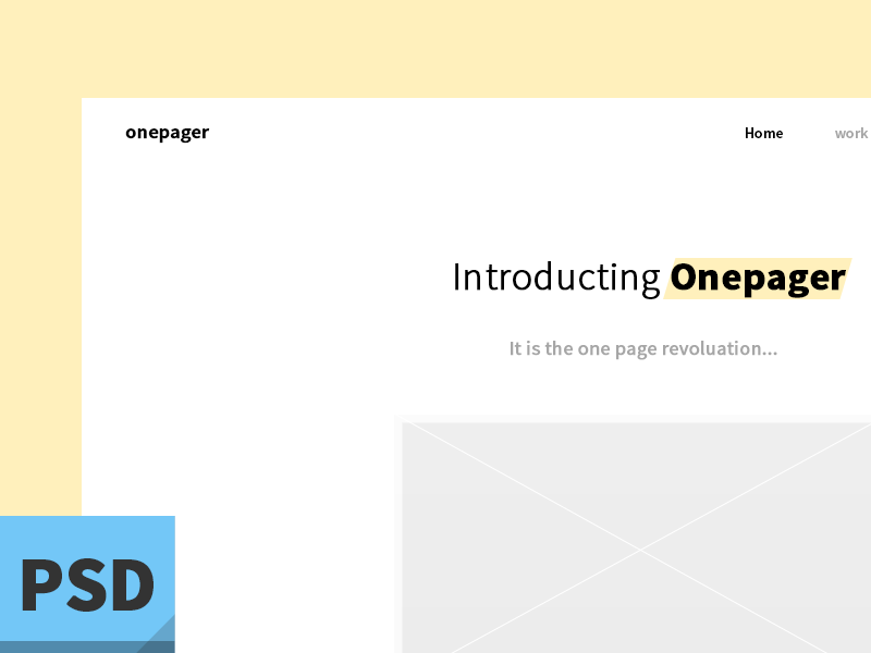 simple one page design onepager freebie psd simple clean onepage portfolio template