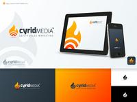 Cyrid media Logo Design