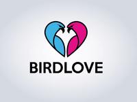 Bird love logo design