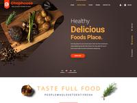 Chophouse Restaurant Website Home Page Design