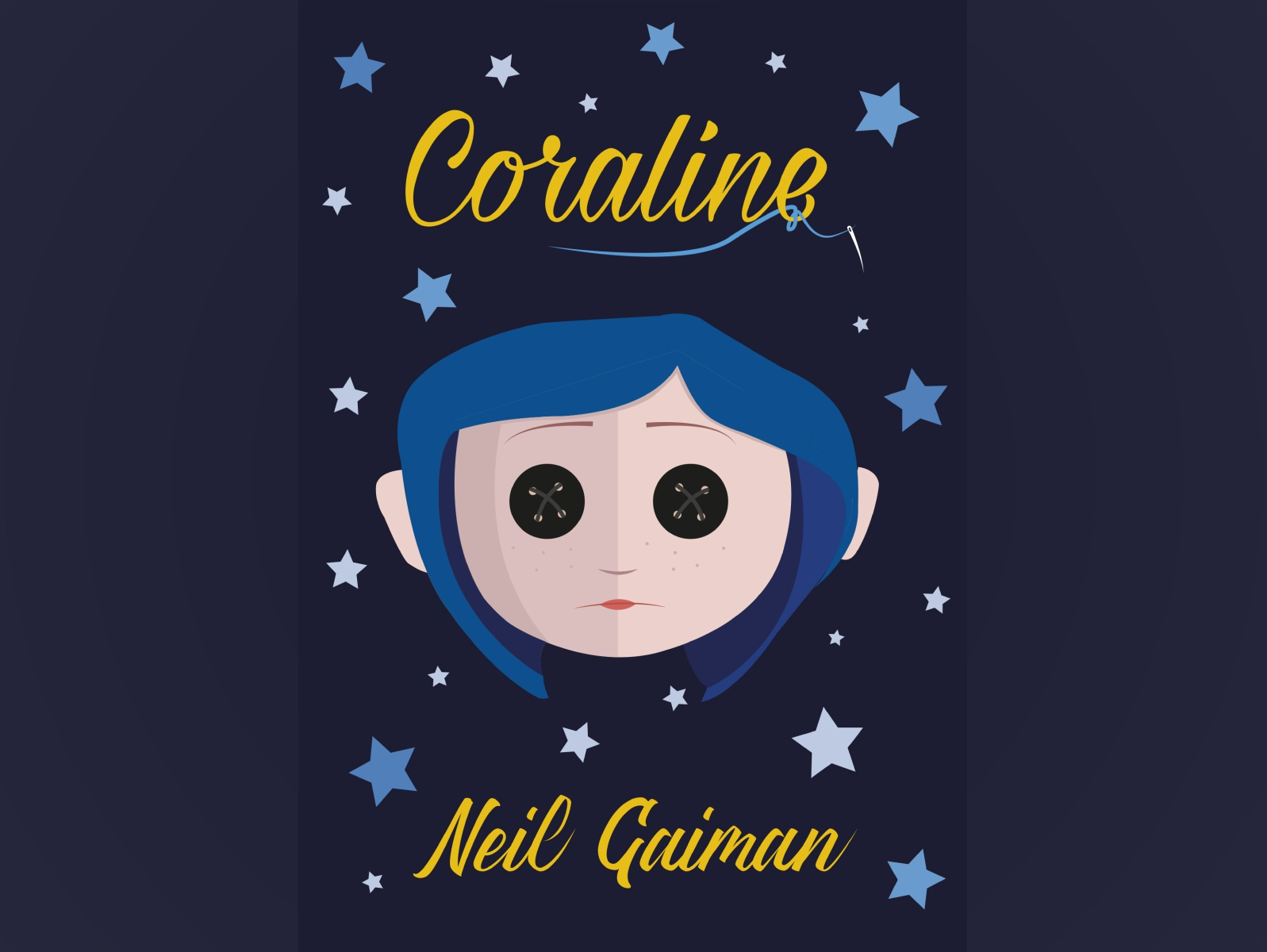 Coraline Book Cover By Julia On Dribbble
