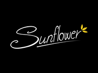 Sunflower - typographic logo design