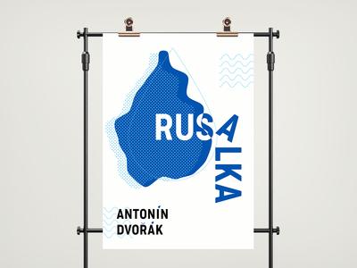 Rusalka - poster inspired by Czech opera