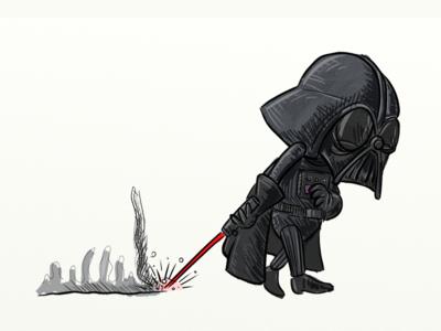 Worn Darth Vader
