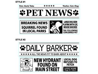 Dog Newspaper Designs 1of3