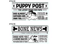 Dog Newspaper Designs 2of3
