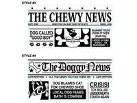 Dog Newspaper Designs 3of3
