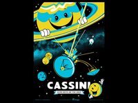 Cassini Poster - Final Image (glowing ink not shown)