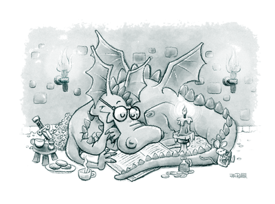 For SCBWI: Adventure Reading  Dragon