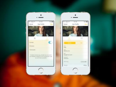 Sceptre Medical App - User Profile