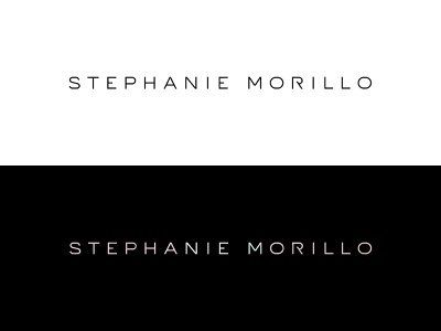 Stephanie Morillo Logo logo design logotype typeface custom type logo