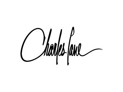 Charles Lane Logo signature signature logo typeface lettering logo lettering custom lettering design brand design logotype branding logo design logo