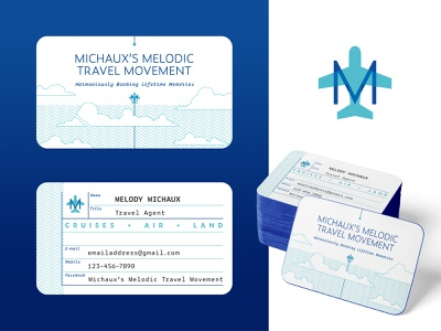 Michaux's Business Card illustration logo card brand design business card