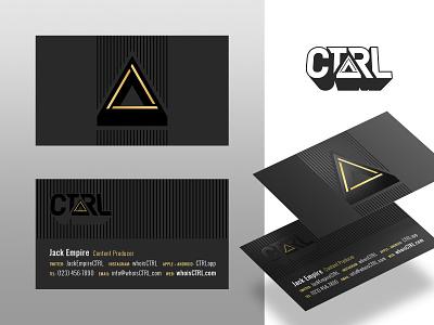 CTRL Business Card logo branding card business card