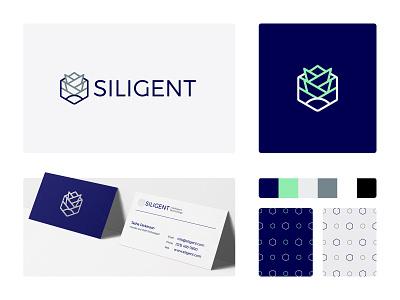 Siligent Brand Identity business card social media mark brand identity design brand identity identity brand design design logomark logo design branding logo