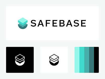 SafeBase Logo mark logomark design brand design logo design branding logo