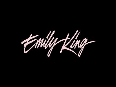 Emily King Logo lettering logo lettering logos branding logo design logotype custom lettering logo