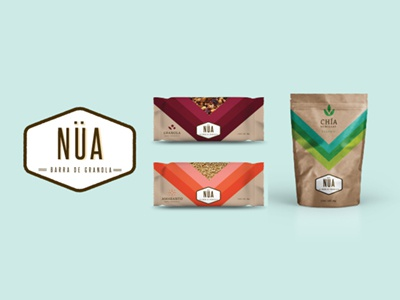 Nua Granola Bar Logo & Packaging