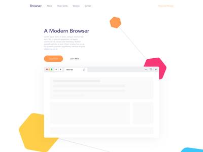Landing Page Design for a New Browser