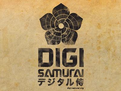 DIGI Samurai custom typography digi samurai japanese crest