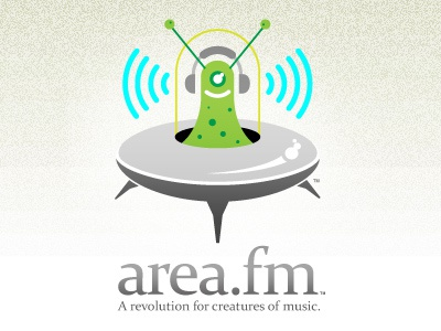 Area.fm branding concept alien space ship creature app brand music
