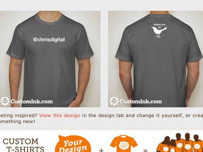 @Chrisdigital - Twitter Shirt twitter tee shirt gray white username