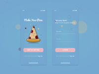 Make Your Pizza UI iOS App Design