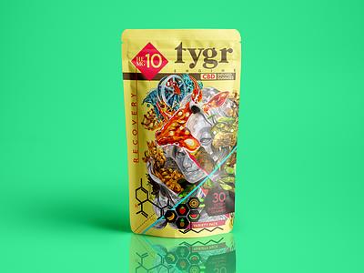 Tygr Engine Gummy Pack photoshop art procreate art icon design digital illustration cbd design cbd packaging packing design packagedesign typography icon photoshop graphic art illustration exploratory branding design