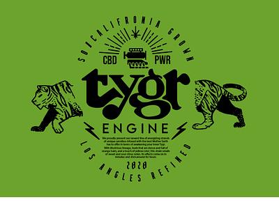 Tygr Logo Hero vintage type art iconography energy cannabis design lightning tiger branding photoshop logo illustration exploratory icon vector graphic art typography design