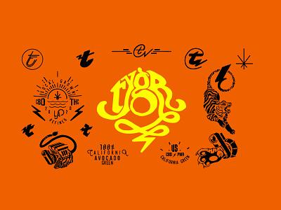 Tygr Style Sheet handlettering socal stylesheet styleguide cannabis logo california sun icon vector photoshop graphic art typography logo illustration exploratory design