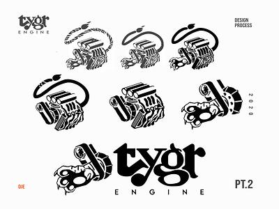 Tygr Design Process Part 2 asset icon vector photoshop idendity illustration exploratory cannabis logo engine sheet design logo design process