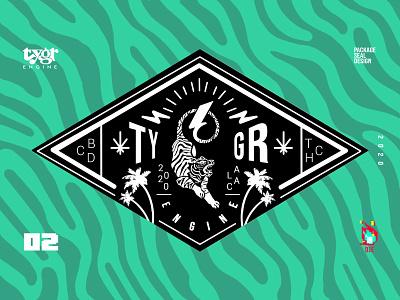 Tygr Seal V2 pattern stripes tiger cannabis design typography graphic art vector photoshop icon logo illustration branding exploratory