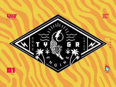 Tygr Seal V1 seal pattern stripes cannabis tiger icon idendity vector photoshop graphic art typography illustration branding exploratory design