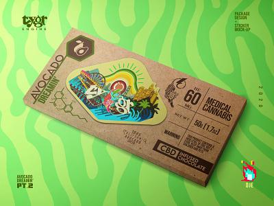 Tygr Chocolate Bar tiger chocolate bar cbd avocado package design los angeles cannabis branding vector photoshop graphic art typography logo illustration exploratory