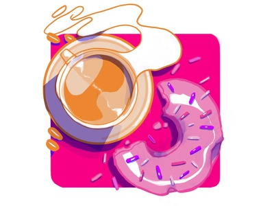 Dunkin' Donuts Rework Asset simple flat exploratory asset branding design icon logo illustration