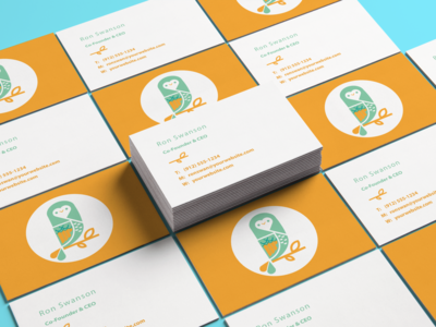 Remedy Owl Business Cards Mockup