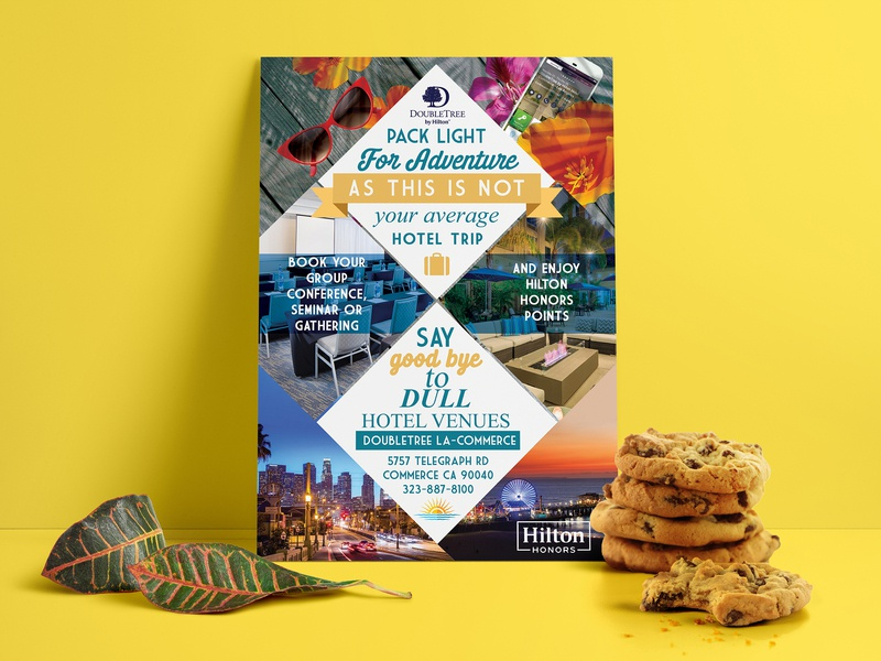 Double Tree Flyer photoshop commission bookings invitation card los angeles flowers design typography hotel vacation cookies summer graphic design flyer