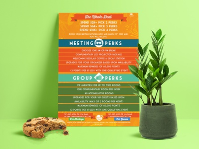 Double Tree Flyer Part 2 photoshop colorful client work hotel flyer typography branding design