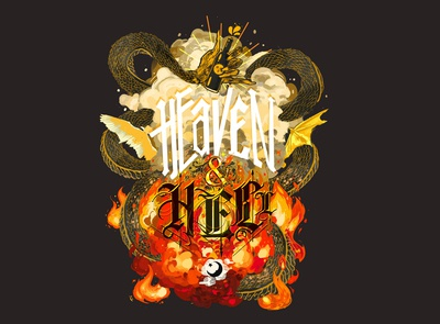 Heaven and Hell Stout Label