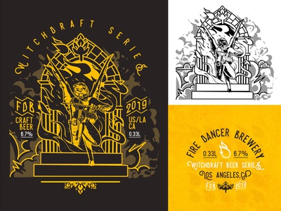 Fire Dancer Brewery Logo Set