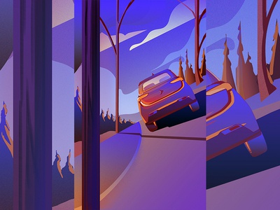 Painting of the car