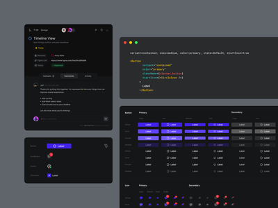 Visual System 2 Variants figma code components buttons variants react design system visual system